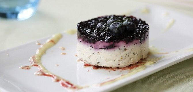 La vegan cheese cake ai mirtilli di Ghea
